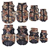 Yunt Pet Dog Coat Jacket Hundepullover Hundemantel wasserdicht Winterjacke,Regenmantel Hund Hundebekleidung Hundejacke Warm Wintermantel gepolstert(Camouflage,Medium)