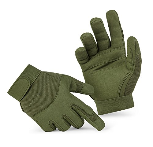 BlackSnake® Tactical Army Gloves Herrenhandschuhe aus hochwertigem Spezialkunstleder Oliv L