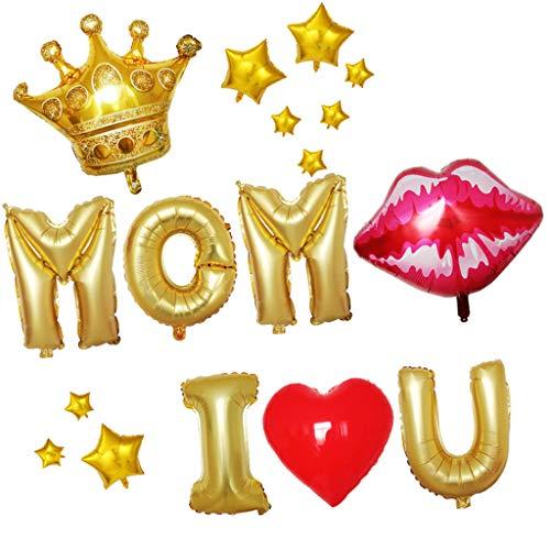 ToDIDAF Party Ballon Set / Party Deko Set / Deko Latex Ballon / Geburtstagsballon für Geburtstagsfeier / Familienfeier / Festfeier (for Mom)