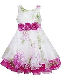 Mädchen Kleid Tüll Braut- Schnüren Mit Blume Detailing Hochzeit