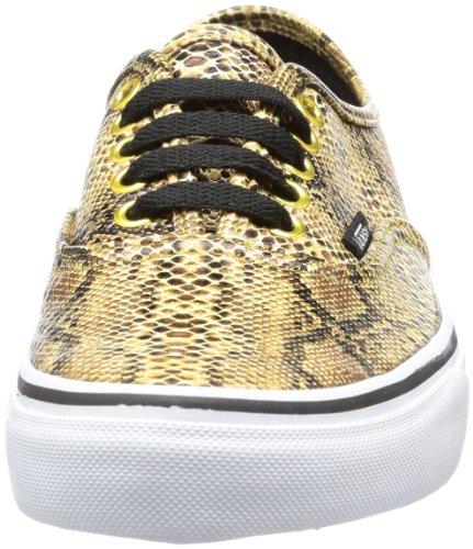 Vans U AUTHENTIC VTSV8RZ Unisex-Erwachsene Sneaker multi-coloured - Mehrfarbig (Snake) gold)