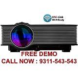 """Boss S4 LED HD PROJECTOR (Black) - HD 1920 X 1080 – 120"""" DISPLAY"""