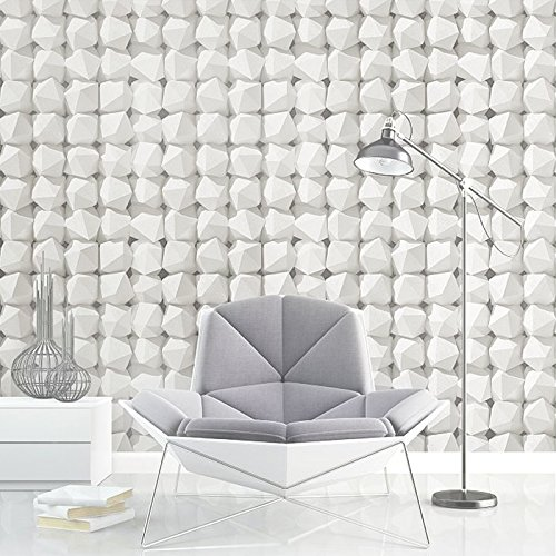 JSLCR 3D Hintergrund schlicht weißen Tapete Dekoration Shop einfach und modische Kleidung Shop wallpaper