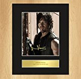 Norman Reedus - Daryl Dixon Signed Mounted Photo Display The Walking Dead 2