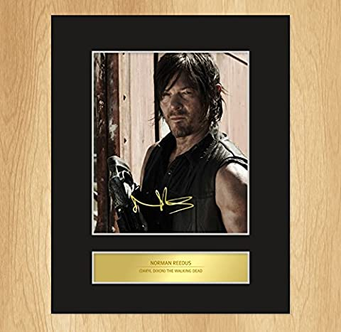 Norman Reedus - Daryl Dixon Signed Mounted Photo Display The Walking Dead 2 by My Prints
