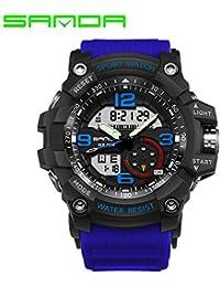 Sanda 759 Marca de Lujo Reloj LED Digital Reloj de Pulsera Multifuncional de Choque Militar 30m