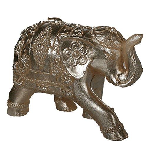 Vela decorativa elefante dorado