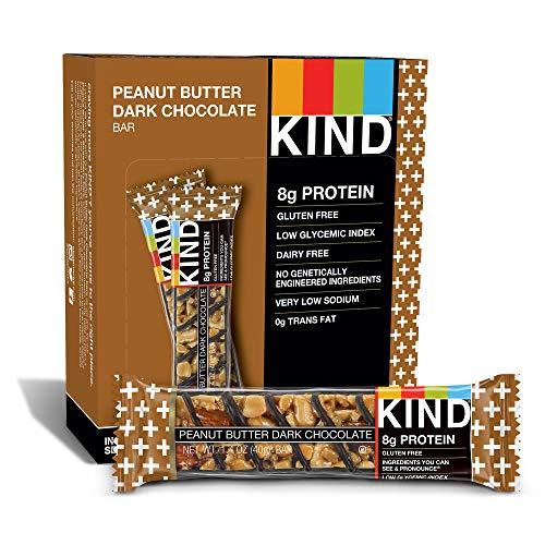 KIND PLUS, Erdnussbutter Dunkle Schokolade + Protein, Glutenfreie Riegel (12er-Pack)