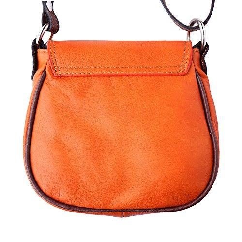 Tasche runden Formen aus Italien Orange/Braun