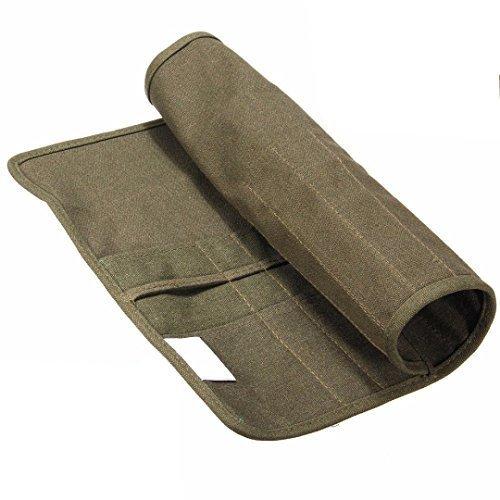 Pinsel Etui Tasche Packen Stifte Rolle auf Leinwand für Stifte öl Pinsel Aquarell Kosmetik Armee-Grün