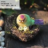 Baiyone Super Schöne Vogel Simulation Harz Handwerk Wohnzimmer Fernsehen Schränke Display Bonsai Garten Ornamente Nest,Einen Einzigen Nest Setzen
