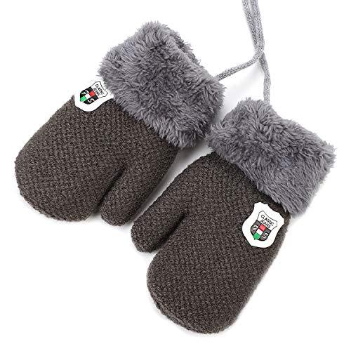 Handschuhe Kleinkinder Fäustlinge Verdickte Strickhandschuhe Einfarbige Kinderhandschuhe Winddichte Fausthandschuhe Outdoor Indoor Winterhandschuhe Warme Handschuhe für 1-3 Jahre Junge Mädchen