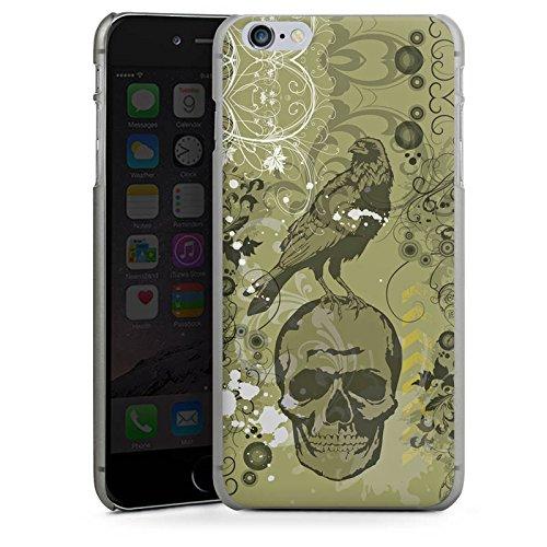 Apple iPhone X Silikon Hülle Case Schutzhülle Rabe Totenkopf Skull Hard Case anthrazit-klar