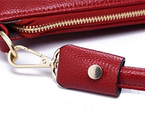 Dhfud Ladies Casual Minimalista Spalla Diagonale Borsa Casual Donna Borsa Gialla