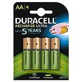Duracell Ultra - Lot de 4 Piles Rechargeables type AA - 2500 ou 2400 Mah