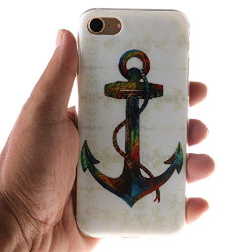 Voguecase® für Apple iPhone 6/6S 4.7 hülle, Anti-Rutsch Transparent Schutzhülle / Case / Cover / Hülle / TPU Gel Skin (Rutschfest/Faith) + Gratis Universal Eingabestift Bunte Anchor