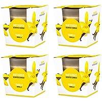 Preisvergleich für Pajoma Duftkerze 4er Set Vanille im satinierten Glas, 124 g, Brenndauer: 25 Stunden, in Edler Geschenkverpackung