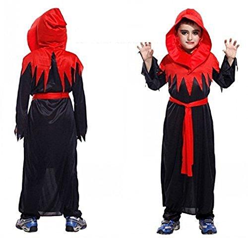 Kostüm Sekte - Inception Pro Infinite Größe L - 7 - 8 Jahre - Kostüm - Verkleidung - Karneval - Halloween - Gothic Minister - Teufel - Sekte - Schwarze Farbe - Kind
