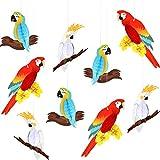 Gejoy 9 Pezzi Luau Uccelli Tropicali Pappagallo Nido d'Ape Partito Favi di Carta Hawaiana Estate Festa Appendere Decorazioni Spiaggia Matrimonio Compleanno Favore