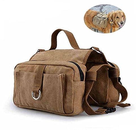 Chien Sac à Dos, toile Moacc Medium et grand chien pour animal domestique Self Lot Sac de selle pour chien de voyage de camping/randonnée d'entraînement
