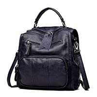 Miweel Bolso de cuero de las mujeres Bolso de la mochila de la moda Bolso de estudiante ocasional Estilo de las señoras Mochila de viaje