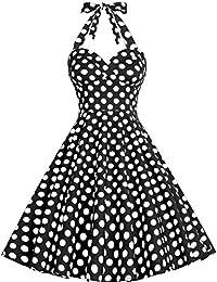 Bbonlinedress modèle 4 Vintage rétro 1950's Audrey Hepburn robe de soirée cocktail année 50 Rockabilly style halter
