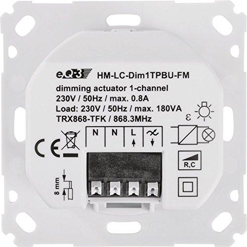 Homematic 103020 Funk-Dimmaktor 1-fach Phasenabschnitt, Unterputzmontage - 5