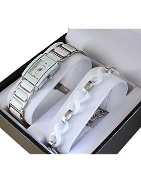 Pack zeigt Damen Keramik Weiß + Armband Keramik Collection Dolce Vita