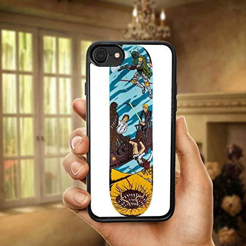 HANSHUO Handyhülle Art- und Weiseskateboard-Rochen Santa Cruz PC TPU Harte Schwarze Telefon-Kästen für iPhone 4 4S 5 5S SE 6 6S 7 8 Plus X XR XS maximales Coque Shell