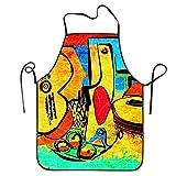 quanzhouxuhuixiefu Picasso Women's Men's Funny Creative Print Cooking Aprons