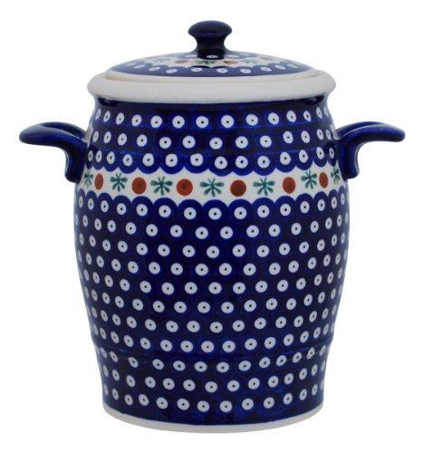 Original Bunzlauer Keramik Rumtopf 4.2 Liter/Mehrzwecktopf/Keramiktopf im Dekor 41
