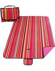 Preuve Plage Mat pique-nique Lawn humidité Mats Red Stripe 150 * 200cm