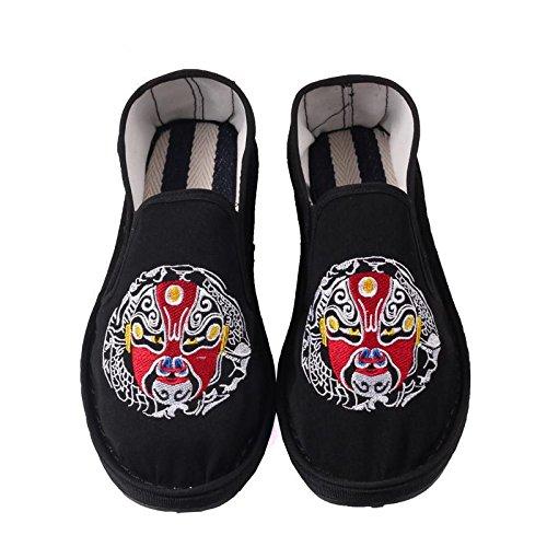 LvYuan Unisex chinesische traditionelle Tuchschuhe / beiläufige Retro Atmen Sie Stickereischuhe / Kung Fu Schuhe / Kampfkünste / Beleg-auf Schuhe 3#