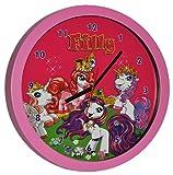 Wanduhr Filly Pferde - 30 cm groß Uhr - Kinderzimmer Einhorn Kinderuhr - analog Pferd Unicorn Einhorn Mädchen Magic Magicart Prinzessin