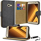 Galaxy A5 2017 Case, SAMSUNG GALAXY A5 2017 Case Premium Quality Leather Wallet Case Cover Comes with Galaxy A5 2017 Screen Protector & Stylus Pen / Galaxy A5 2017 Case