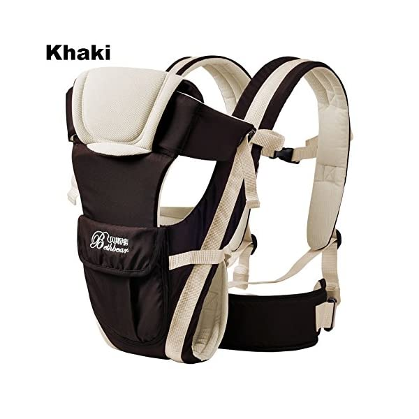 """GudeHome Baby Carrier 4 Positions Backpack, Front Facing, Kangaroo & Sling Lightweight Infant Carrier GudeHome COMFORT AND SECURITY - We know how important it is to you as the consumer to have a product that you can rely on and with peace of mind. That confidence you feel when you know your product was worth every penny! """"The proof is in the pudding"""" they say. Our double sling design provides extra security for baby and privacy while nursing. An adjustable shoulder belt and waist belt are made for safer carrying with a double-protection safety buckle eloquently designed just for your maximum comfort! EVERYTHING YOU EVER WANTED in a baby carrier can be found in flexible, lightweight, and ergonomic baby carrier. Our unique and comfortable carrier allows for FOUR safe carrying positions. The Backpack, Kangaroo, Front-Facing, & Sling positions can all be used based on your mood and comfort. This carrier provides plenty of back support. It sits on both shoulders to take stress off the back. No other baby carrier offers such a variety of positions and styles to carry your baby! QUALITY IS OUR PRIORITY - You may be thinking what separates this baby carrier from other brands that are made of cheap quality and initially seem fine, but soon after begin to fail. The baby carrier is made of top quality and premium material that is meant to last over a long-term period and designed to be the best and last brand of baby carrier you ever have to buy! 22"""