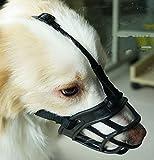 New Dog muso/morbido silicone gomma basket musi/prevenire mordere, da masticare e abbaia/permette di bere e Panting/utilizzato con collare/traspirante regolabile per cani taglia piccola e media