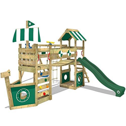 Wickey Parque infantil StormFlyer Torre de escalada con muro de escalada cajón...