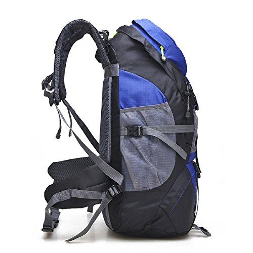 Yueer All'aperto Borse Per Alpinismo Uomini E Donne Studenti Spalle Viaggio Esercizio Fitness Arrampicata Su Roccia Grande Capacità Zaino 50L,C E