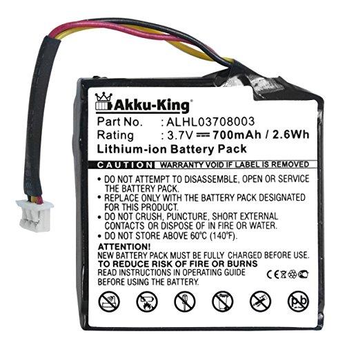 Akku-King Akku kompatibel mit Tomtom Start 20 / Start 25 - ersetzt ALHL03708003 - Li-Ion 700mAh