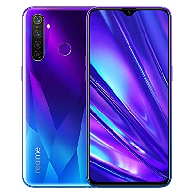 Realme 5 Pro Smartphone 8GB RAM + 128GB ROM, 6.3 '' IPS Screen, Octa-Core processor, 16MP Front and 48MP AI Quad Camera, Dual Sim, Sparkling Blue, UK plug