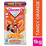 Glucon-D Glucose Based Beverage Mix - 1 kg Carton (Orange) with Free Sipper worth Rupees 125