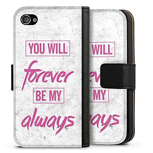 Apple iPhone X Silikon Hülle Case Schutzhülle Liebe Freundschaft Sprüche Sideflip Tasche schwarz