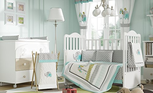 Baby Bedding Design Green Elephant Crib Bedding Collection 4 Pc Crib Bedding Set