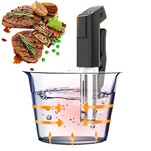 Sous Vide Precision Cooker, Sturdy Immersion Circulator, Vacuum Food Cooker, Easy-to-use Operation interface, LCD Digital Display,1000Watt