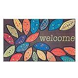 Teppiche Außenfarbe Blumenmatten Haus Gummi Tür Reibung Tür Matte ( Farbe : 1 , größe : 45*75cm )