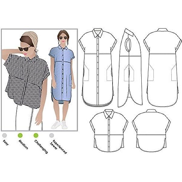 Estilo Arc – patrón de costura para camisa o vestido de ...