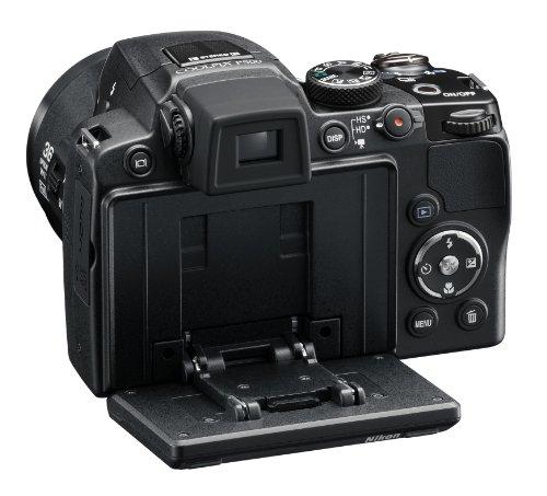 Nikon Coolpix P500 Digitalkamera (12 Megapixel, 36-fach opt. Zoom, 7,5 cm (3 Zoll) Display, Full-HD Video, bildstabilisiert) schwarz - 6