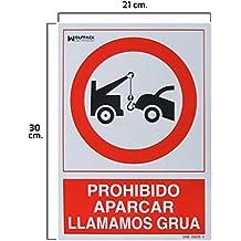 Wolfpack 15050560 Cartel Prohibido Aparcar Llamamos Grúa 30 x ...
