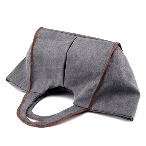 Sacchetto di tela di canapa del sacchetto delle borse della signora semplice purple coffee